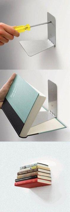 DIY: Books turned shelves.