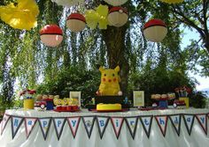 Decoración de mesa cumpleaños para niños | La Cajita Azul de Rocío