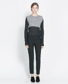 Image 1 of TWO-TONE SWEATER from Zara