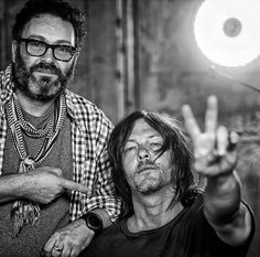 From markmannphoto w/leicacamerausa   Had a blast with his guy #NormanReedus on set in the #atl   #ridewithnormanreedus