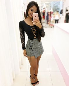 Girly Outfits, Classy Outfits, Sexy Outfits, Casual Outfits, Fashion Outfits, Tight Dresses, Short Dresses, Shirt Patterns For Women, Cute Skirts