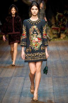 Dolce & Gabbana Fall 2014 Ready-to-Wear Collection Photos - Vogue. Model: Antonina Vasylchenko