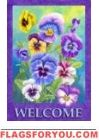 Beautiful Spring Summer Pansy Welcome Garden Flag by Custom Decor. Save 31 Off… Garden Flag Stand, Garden Flags, Collages, Welcome Banner, Welcome Spring, Outdoor Flags, House Flags, Flag Decor, Poppies