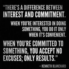 interest and commitment