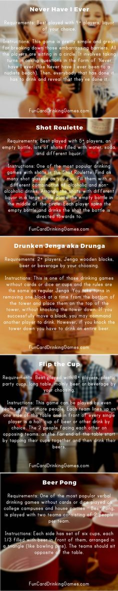 DRINKING GAMES WITHOUT CARDS