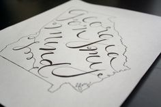 How to: Handlettering in States   crazy beautiful #handlettering