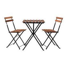 IKEA - TÄRNÖ, Tisch+2 Stühle/außen, Zur Erhöhung der Haltbarkeit und damit die natürliche Holzstruktur sichtbar bleibt, wurde das Möbelstück mit einer Schicht halbtransparenter Holzlasur vorbehandelt.