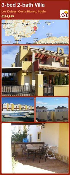 3-bed 2-bath Villa in Los Dolses, Costa Blanca, Spain ►€224,995 #PropertyForSaleInSpain