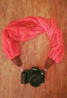 DIY Scarf Camera Strap - Crafternoon Delight