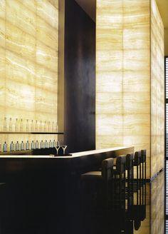 beautiful #interiors: translucent #stone lighting at the Armani Hotel Milan