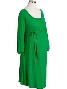 """Women's Maternity Printed Tie-Belt Dresses 