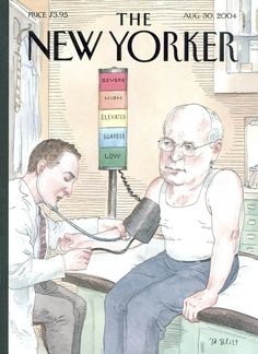 """The New Yorker - Monday, August 30, 2004 - Issue # 4087 - Vol. 80 - N° 24 - Cover """"At Risk?"""" by Barry Blitt"""