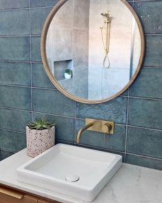 Gareth Ashton Poco Tapware featured against stunning turquoise tiles