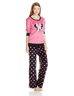 Disney Women s Minnie Mouse Pajama Set  7d14154d7