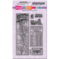 Steampunk and train lovers this #Stampendous Perfectly Clear Stamp set is for you! Fantastic! $14.99