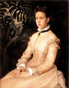 Taiteilijan Sisaren Ellen Edelfeltin Muotokuva (1876)
