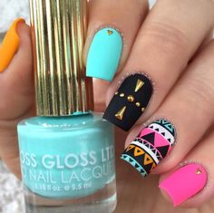 Easy Nail Art Designs - Reverse Stamping Tribal - Step By Step, Simple Tutorials For Beginners For Summer, Fall, Spring, and Winter. Ideas For Nailart For Kids, For Toes, DIY, And Classy Ring Finger Ideas With Glitter. Also Some Great Ideas For Flowers, Paint, Stripes, And Black Nails - http://thegoddess.com/easy-nail-art-design