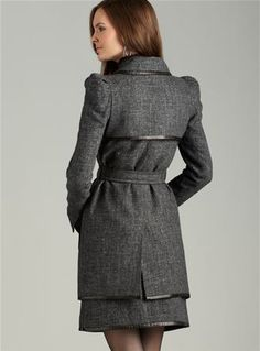 LOVE this Robert Rodriguez tweed and leather trench! $212.49