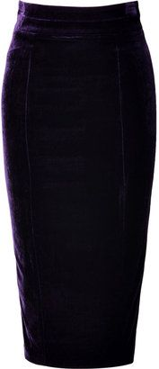 ShopStyle: LWren Scott Amethyst Velvet Pencil Skirt