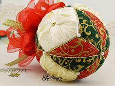 Adornos de árbol de Navidad flor y estrella kimekomi por Gydesi