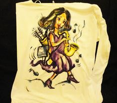 ManolisZoulakis: Hand paint tshirt gift for a musician!