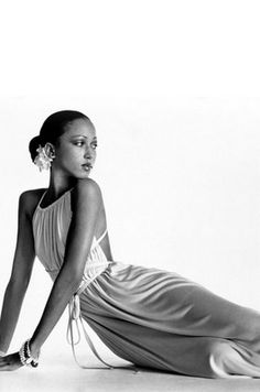 Seventies supermodel Pat Cleveland in a jersey gown by Halston. Photo: Irving Penn, circa 1972.
