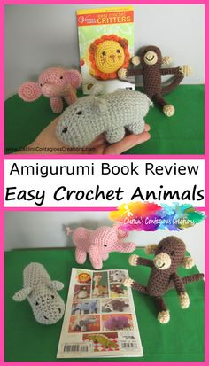 Easy Crochet Critters, a crochet amigurumi collection book from Lion Brand has fun and fast patterns for 10 cute animals! Perfect for baby and kids! Easy Crochet Animals, Crochet Animal Patterns, Crochet Bear, Crochet Books, Stuffed Animal Patterns, Crochet Patterns Amigurumi, Crochet Gifts, Free Crochet, Baby Patterns