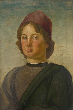 Portrait of a Young Man probably 1475-1500, Italian, Florentine. National Gallery   Flickr - Photo Sharing!