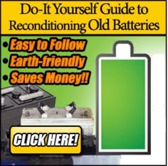 Most people will throw out old batteries not knowing they can be restored to their original glory? You can now recondition your old batteries at home and bring them back to 100% of their working condition.