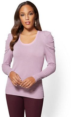 Pin by mario evans on nice shape part 6 pinterest lena chase new york co 7th avenue puff sleeve scoopneck sweater thecheapjerseys Images