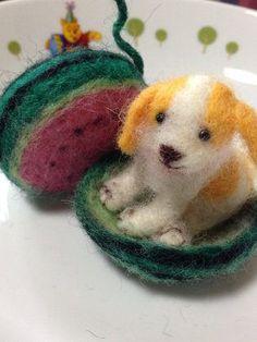 ハンドメイド:羊毛フェルトで❤️