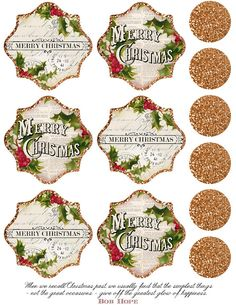 Lilac & Lavender: The Greatest Glow -Christmas tags