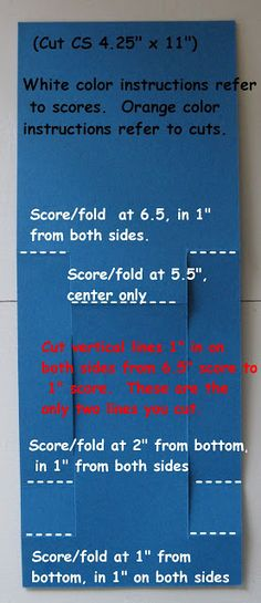 Template for Center Step Card