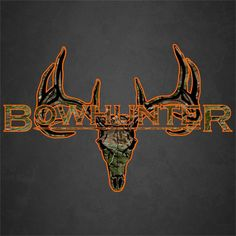 Camo Bowhunter Deer Skull S4 Arrows Vinyl Sticker Decal Buck hunting whitetail