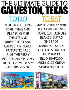 Things to Do in Galveston, Texas Next time you're planning one of the cruises out of Galveston, book a day or two to try out one of these awesome things to do in Galveston, TX! There's more to do than just go on cruises from Galveston! Texas Vacations, Texas Roadtrip, Texas Travel, Vacation Trips, Cruise Vacation, Vacation Ideas, Family Vacations, Disney Cruise, Cruise Tips