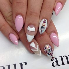 ♥@nn@b£|¥♥ pink and white mini stilettos