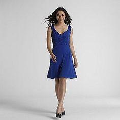 London Style -Women's Knit Crisscross Dress