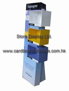 China Laminating standing Corrugated digital Cardboard Floor Displays showcase boxes suppliers