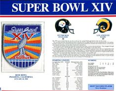 Super Bowl 14 Patch and Game Details Card >>> You can find more details by visiting the image link.