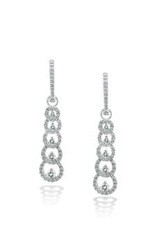 Dripping with sparkling diamonds, Haute Vault's graduating circle dangle earrings are classically beautiful. The perfect symbol of eternal love and unity, these are perfect to pair with your elegant bridal look. Add one of our exclusive tennis braceletes for a perfectly polished lady like look! Fine Bridal Jewelry, Dangle Earrings, Diamond Earrings, Eternal Love, Bridal Looks, Mother Of The Bride, Unity, Tennis, Dangles