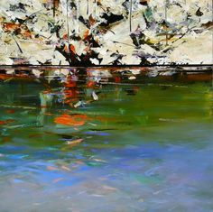 Paul Battams 'Sunset Rock' 101cm x 101cm