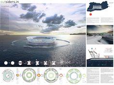 [AC-CA] - Architectural Competition - Concours d'Architecture | [PACIFIC] Ocean Platform Prison / outsiders . in - Team members: Humberto Conde, Filipe Ramalho, Joana Alvarez and Sofia Pacheco (France)