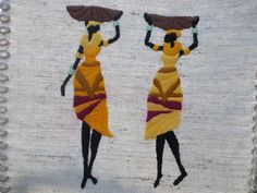 Decorative arts Wall hanging hand embroidered art by embroidream, $50.00
