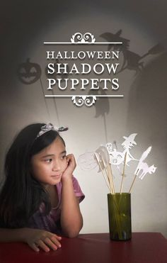 Spooky Halloween Shadow Puppets by Brenda Ponnay for @alphamom