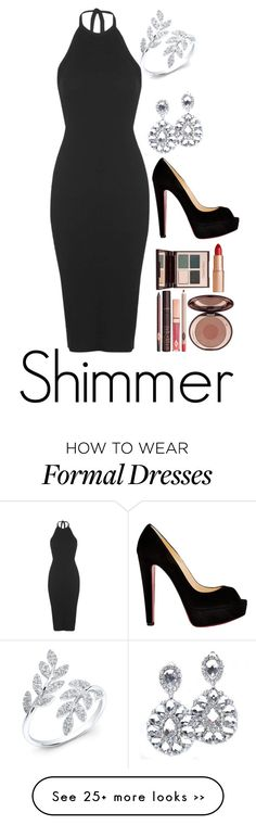 """#1"" by vrihan on Polyvore featuring Christian Louboutin, Topshop and Charlotte Tilbury"