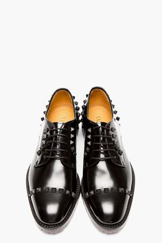 VALENTINO Black Leather RUBBER STUD