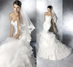 Designer Wedding Gowns Sexy Backless Applique Lace Mermaid Wedding Dresses 2015 Sweetheart Tulle Ruffled Bridal Gowns Summer Beach Court Train Plus Size Wedding Wedding Gown From Cc_bridal, $128.28| Dhgate.Com