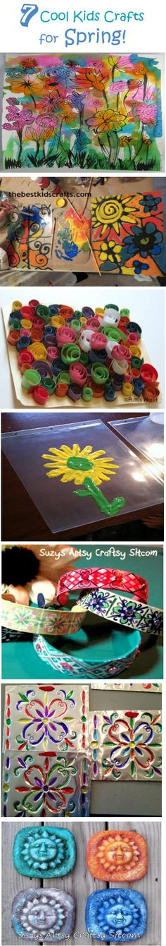 7 cool kids crafts for spring- lots of great ideas to keep little fingers busy!