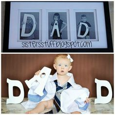 ideas originales para el dia del padre fotos niños letras regalos