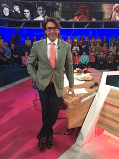 Amazing #AndreyMalakhov wearing #LucaLitrico style for first channel Russian TV! Thanks Andrey #CrocusAtelierCouture #BespokeTailor #TrueLuxuryisthePleasureofChoice